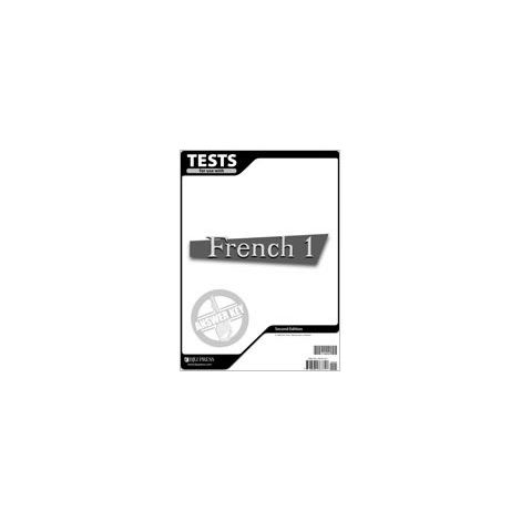 French 1 Tests Answer Key 2nd Edition